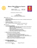 Rotary Board Minutes 18th June  2015