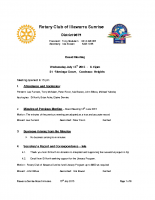 Rotary Board Minutes – July '15