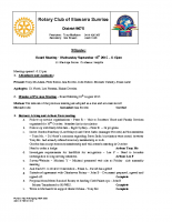 Rotary Board Minutes -Sept 16 2015